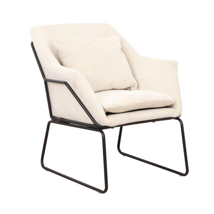 Dizajnové kreslo, béžová/čierna, KADAR - Tempo nábytek