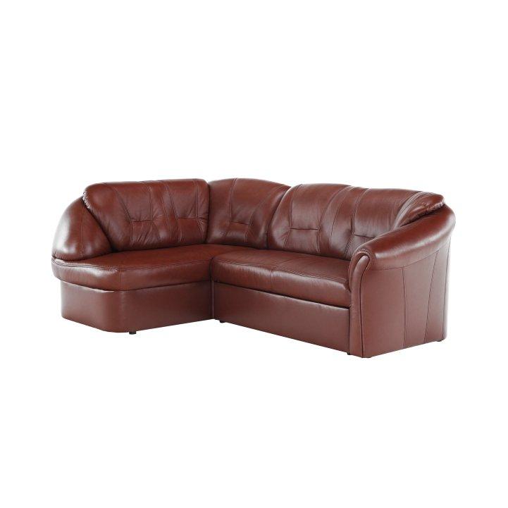 Luxusná sedacia súprava,  koža/ekokoža hnedočervená, ľavá, LAREDO - Tempo nábytek