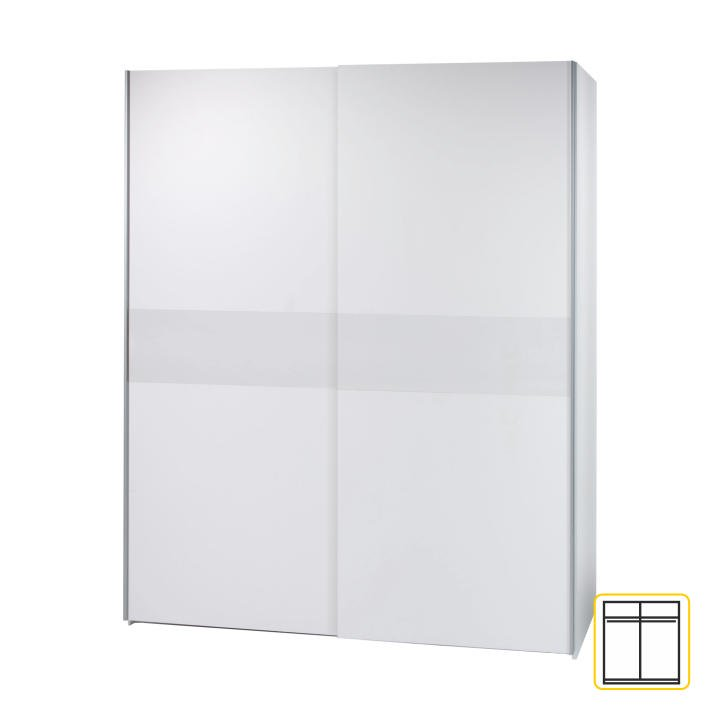 Vešiaková skriňa s posúvacími dverami, biela, VICTOR 2 - Tempo nábytek