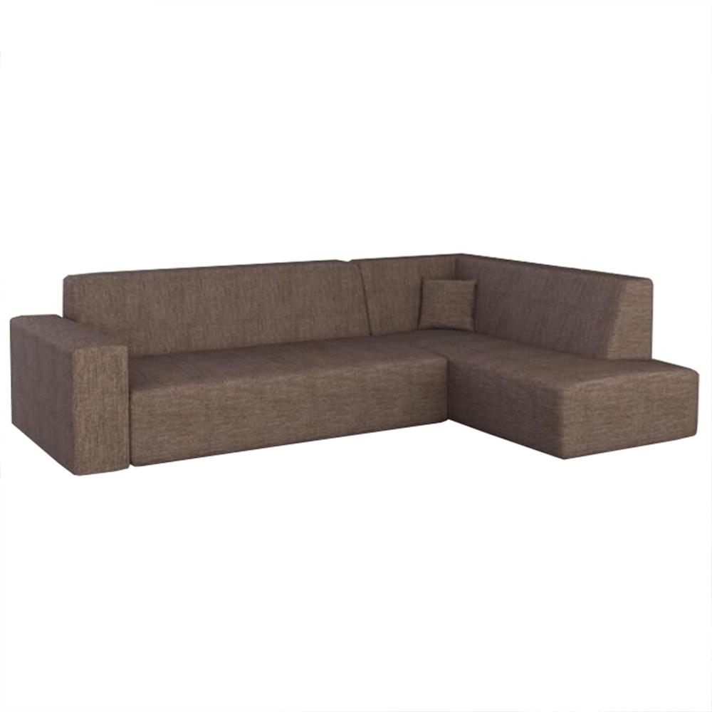 Sedacia súprava, hnedá, pravá, COLLI ROH - Tempo nábytek