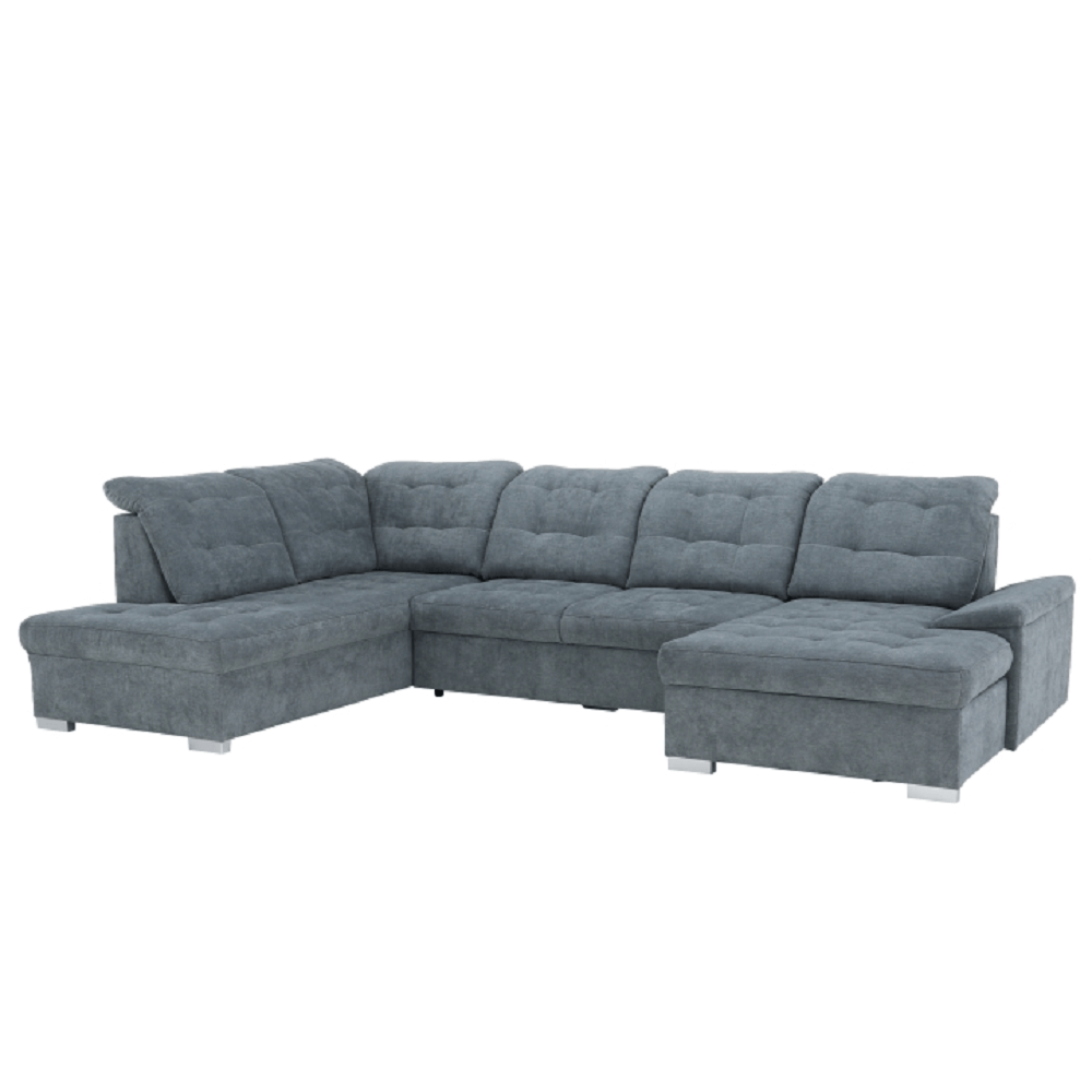 Rozkladacia sedacia súprava, sivá, pravá, NICOLETA - Tempo nábytek