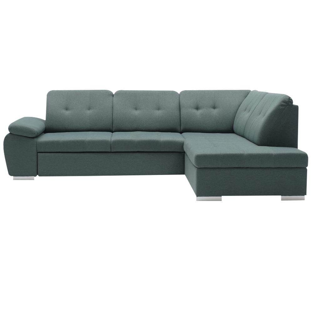 Rohová rozkladacia sedacia súprava, sivá, pravá, KEYLA ROH - Tempo nábytek